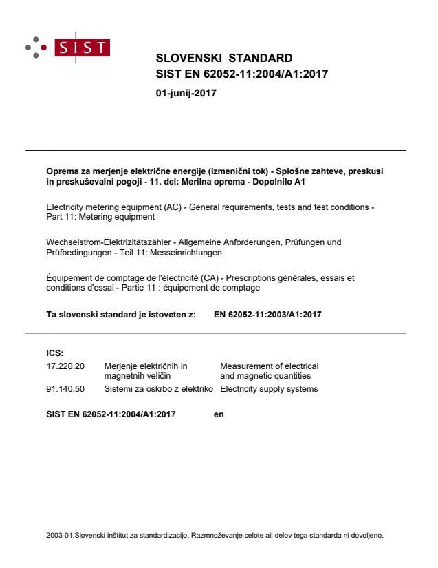 SIST EN 62052-11:2004/A1:2017 - natisnjeno