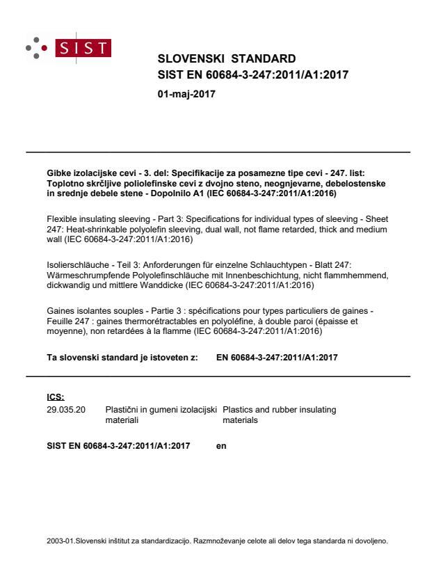 SIST EN 60684-3-247:2011/A1:2017