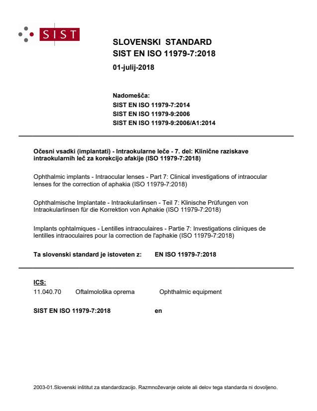 SIST EN ISO 11979-7:2018