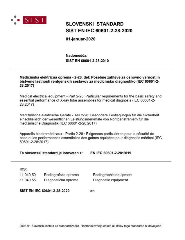 SIST EN IEC 60601-2-28:2020