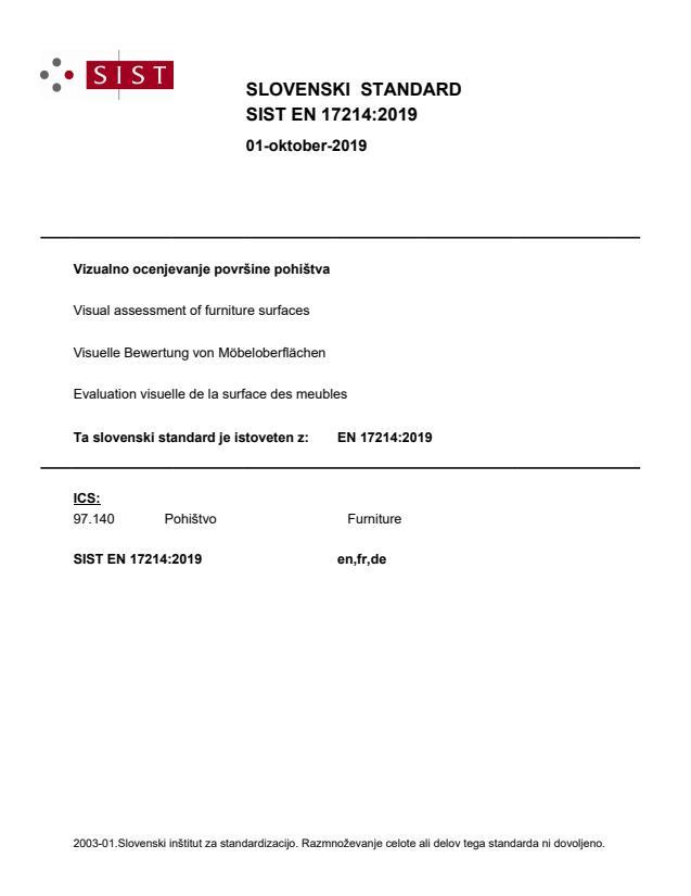 SIST EN 17214:2019 - BARVE na PDF-str 9,12