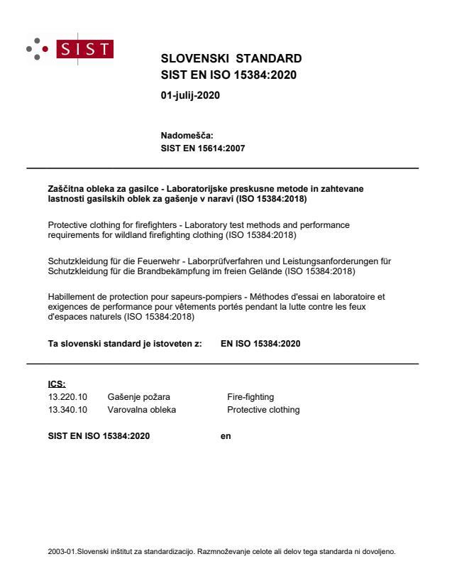 SIST EN ISO 15384:2020