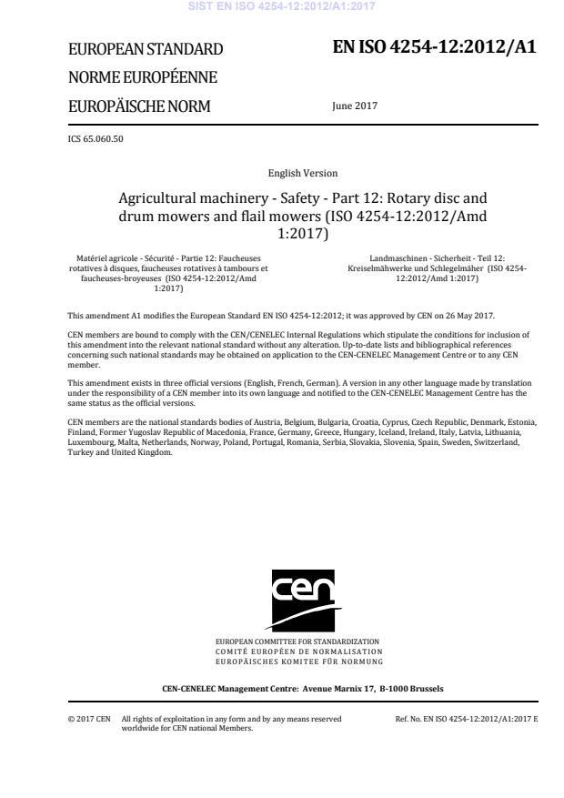 SIST EN ISO 4254-12:2012/A1:2017