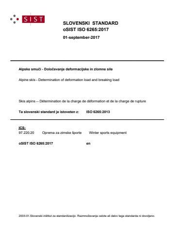 oSIST ISO 6265:2017