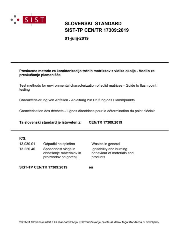 SIST-TP CEN/TR 17309:2019