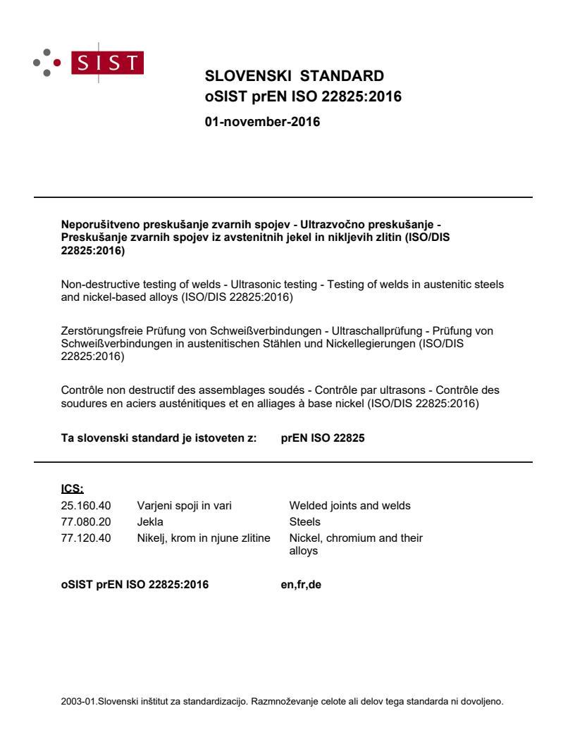 SIST EN ISO 22825:2018