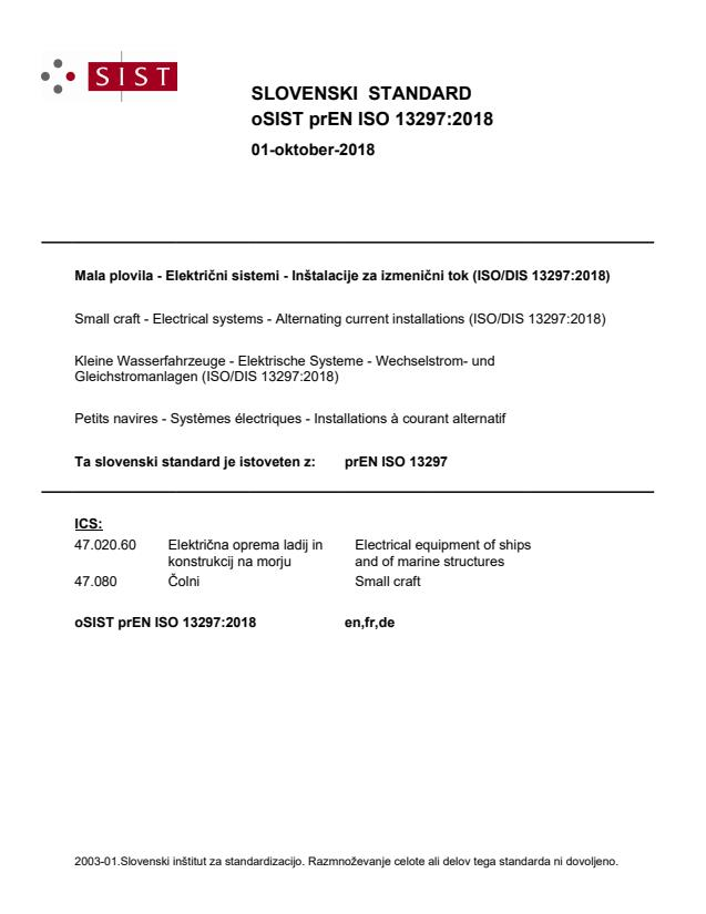 oSIST prEN ISO 13297:2018 - BARVE na PDF-str 15,31,32,33,34,35,36,38