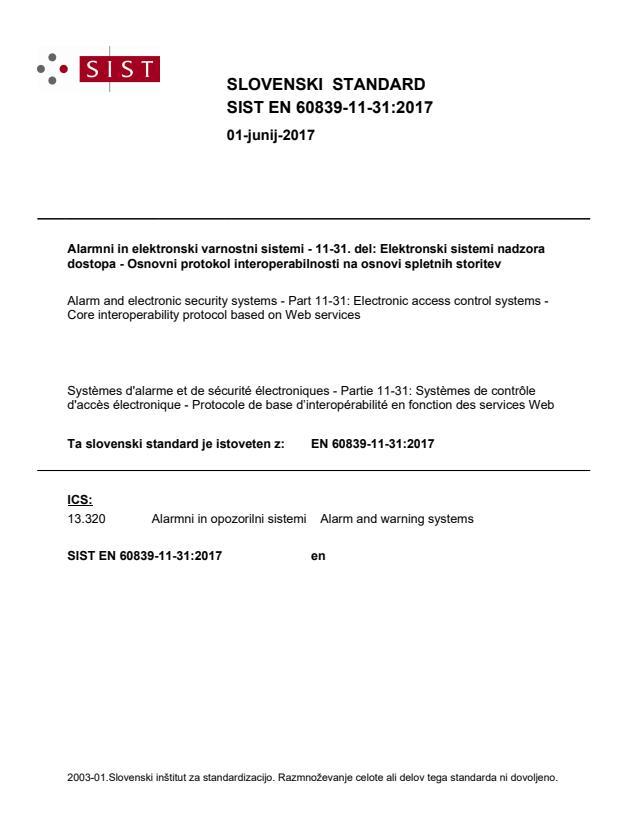 SIST EN 60839-11-31:2017