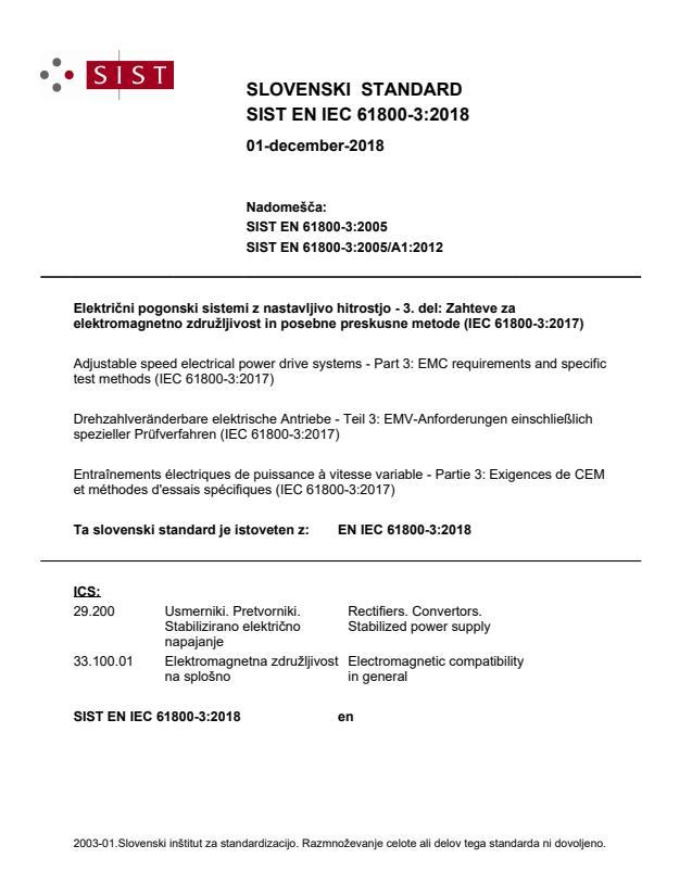 EN IEC 61800-3:2018