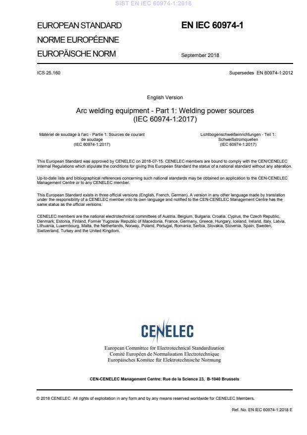 SIST EN IEC 60974-1:2018