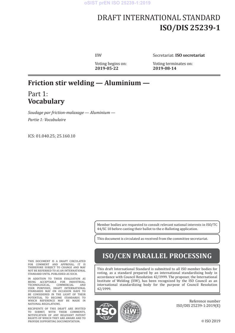 EN ISO 25239-1:2020