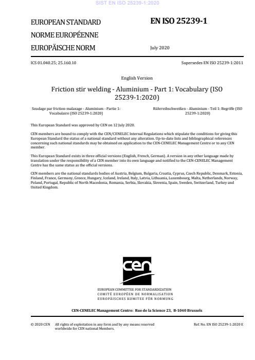 SIST EN ISO 25239-1:2020