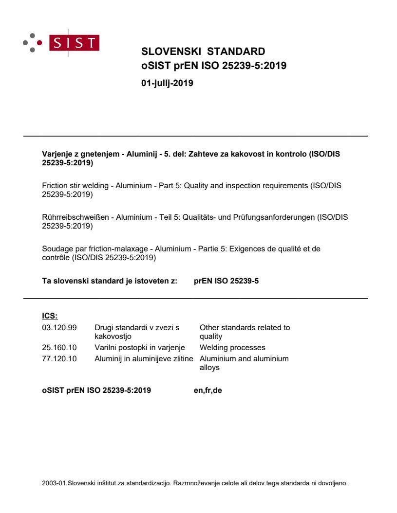 SIST EN ISO 25239-5:2020