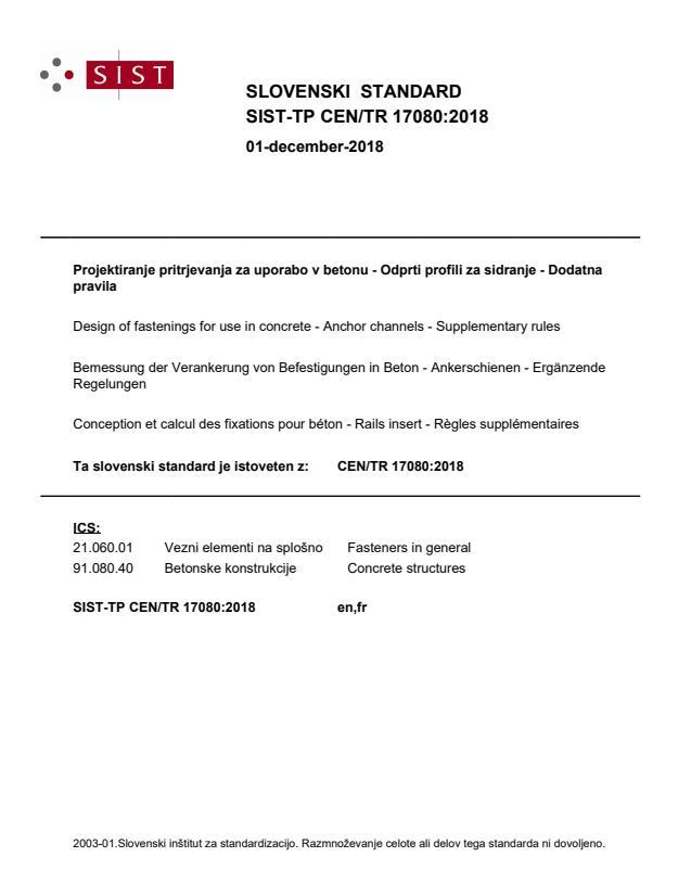 SIST-TP CEN/TR 17080:2018