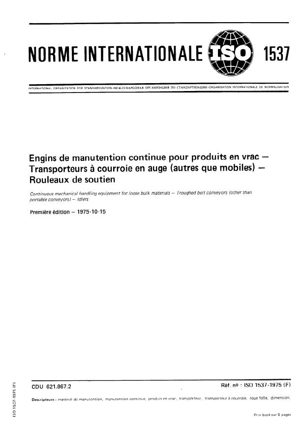 ISO 1537:1975