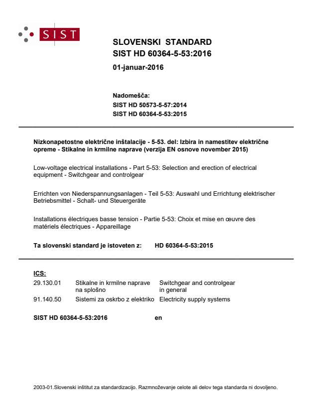 SIST HD 60364-5-53:2016