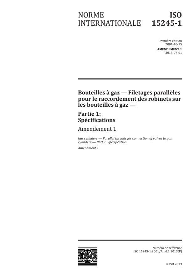 ISO 15245-1:2001/Amd 1:2013