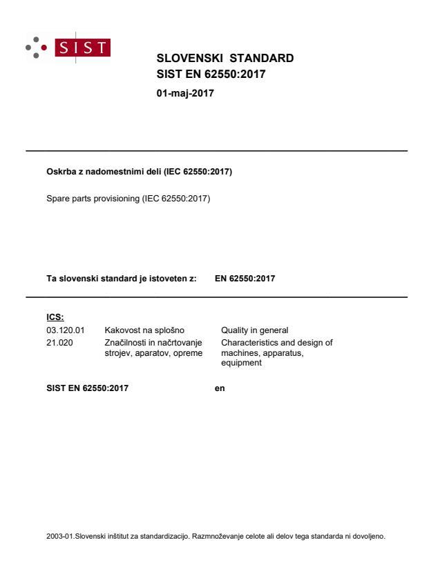 SIST EN 62550:2017