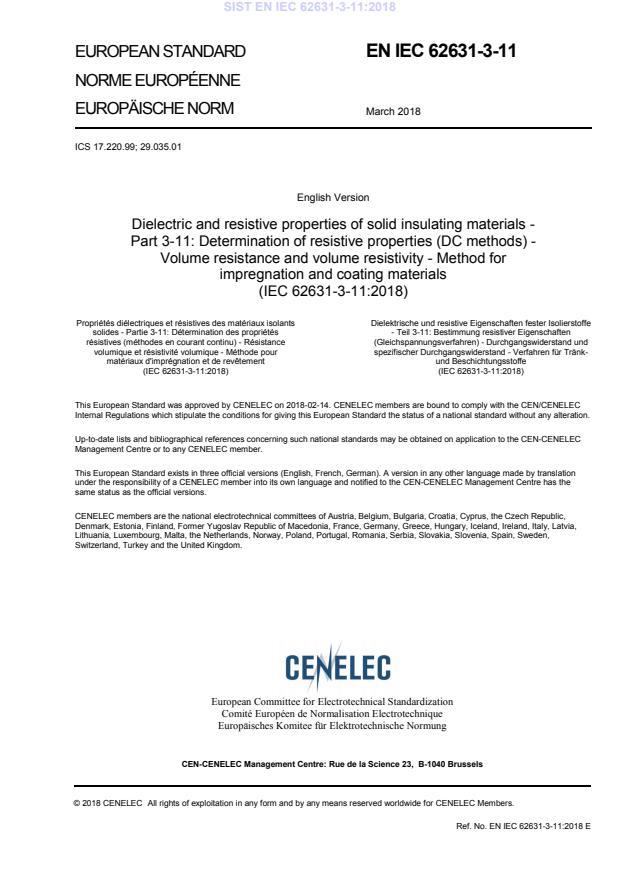 SIST EN IEC 62631-3-11:2018