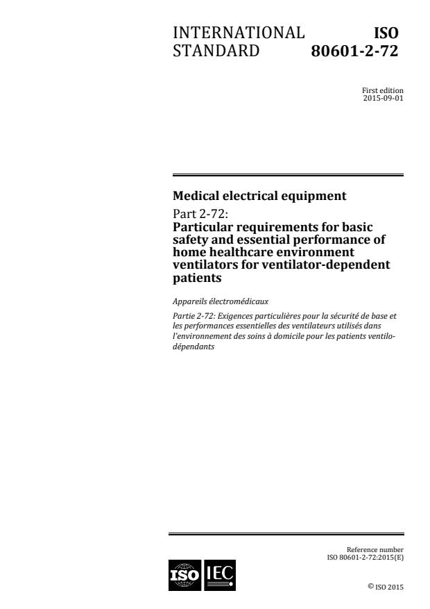 ISO 80601-2-72:2015 - Medical electrical equipment
