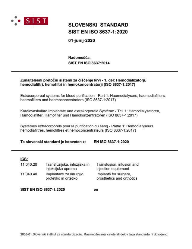 EN ISO 8637-1:2020