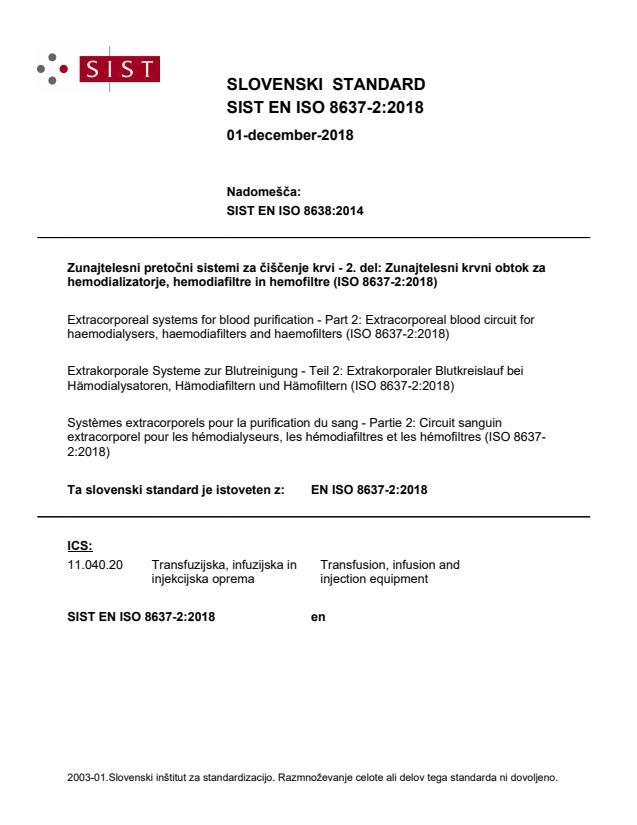 SIST EN ISO 8637-2:2018