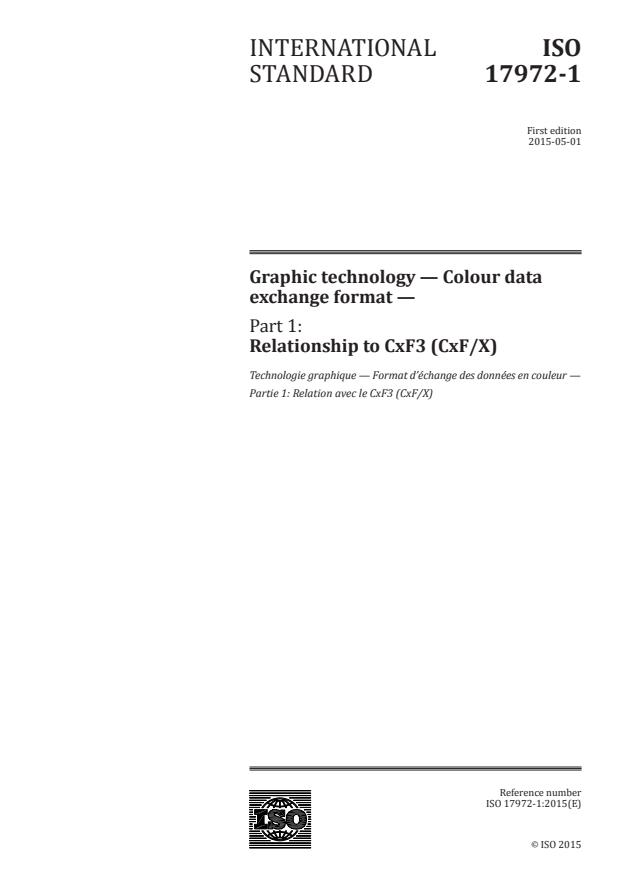ISO 17972-1:2015 - Graphic technology -- Colour data exchange format