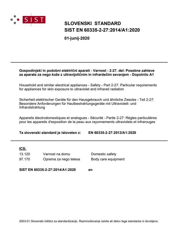 SIST EN 60335-2-27:2014/A1:2020