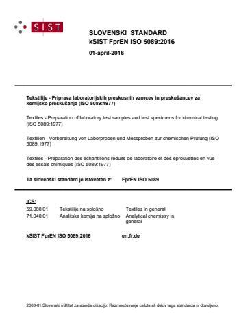 EN ISO 5089:2016