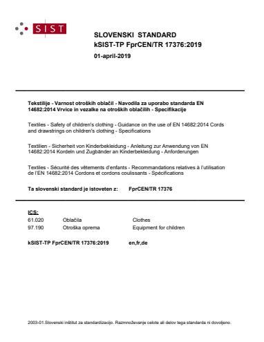 SIST-TP CEN/TR 17376:2019