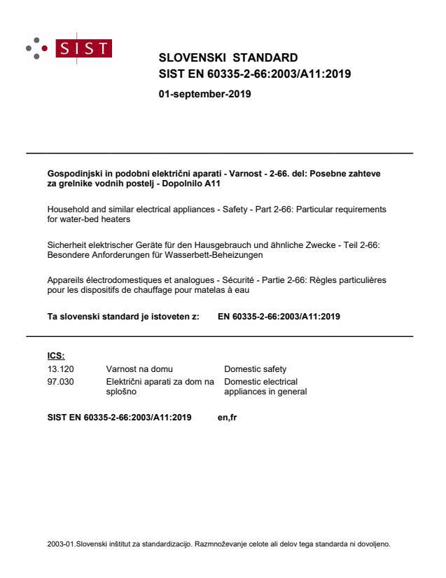 SIST EN 60335-2-66:2003/A11:2019