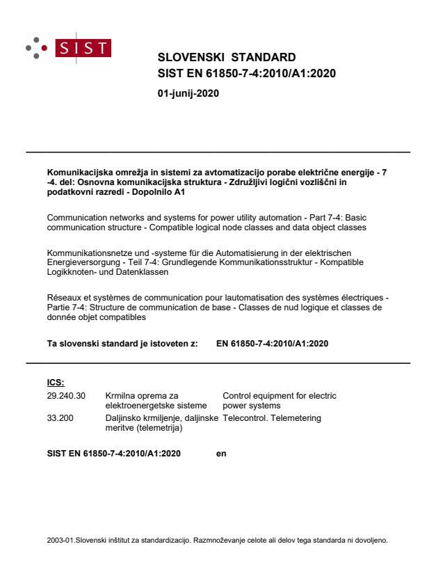 SIST EN 61850-7-4:2010/A1:2020 - BARVE