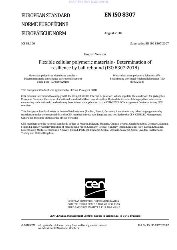 SIST EN ISO 8307:2018