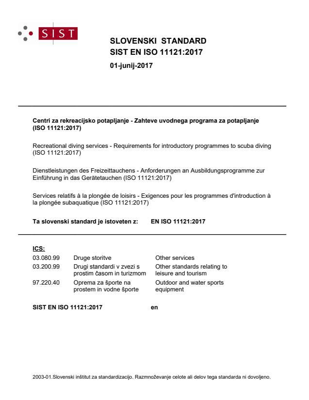 SIST EN ISO 11121:2017