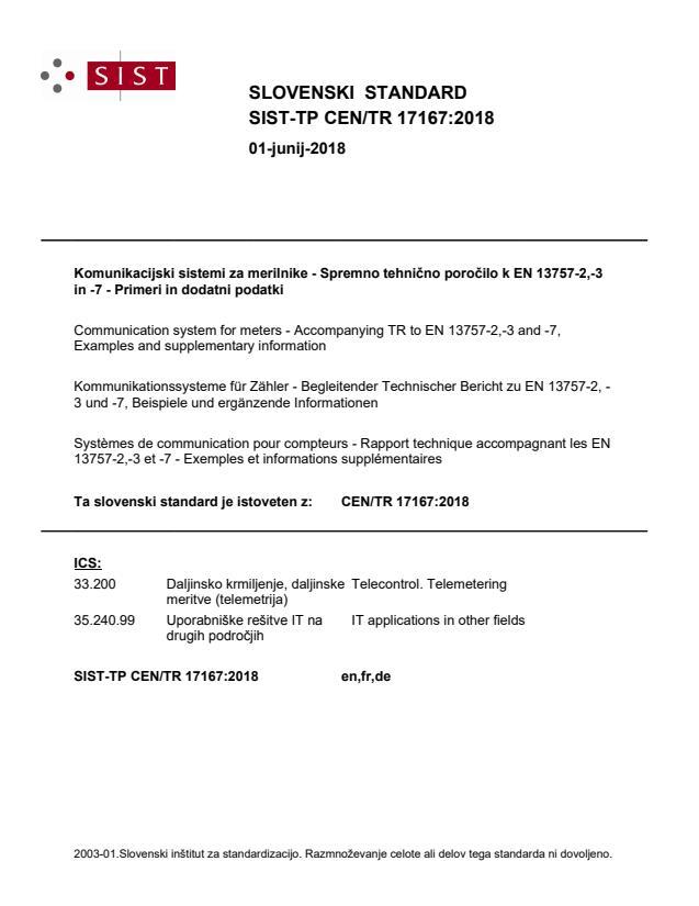 -TP CEN/TR 17167:2018 - BARVE
