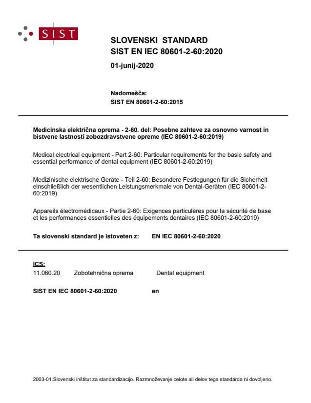 EN IEC 80601-2-60:2020