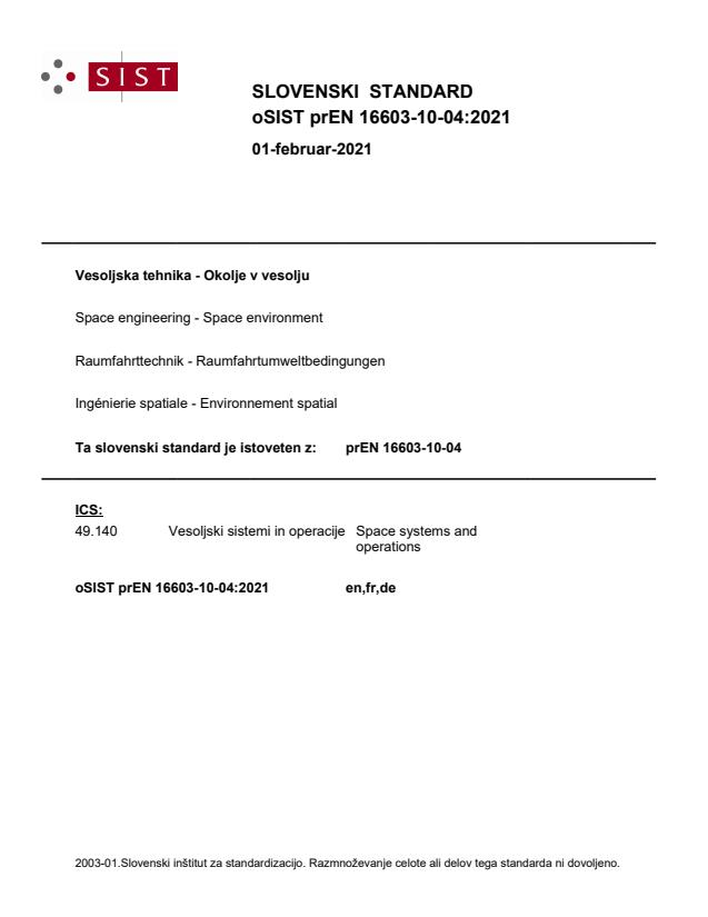 prEN 16603-10-04:2021 - BARVE