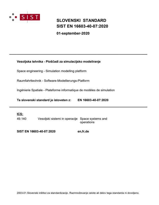 SIST EN 16603-40-07:2020 - BARVE