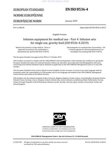 EN ISO 8536-4:2020