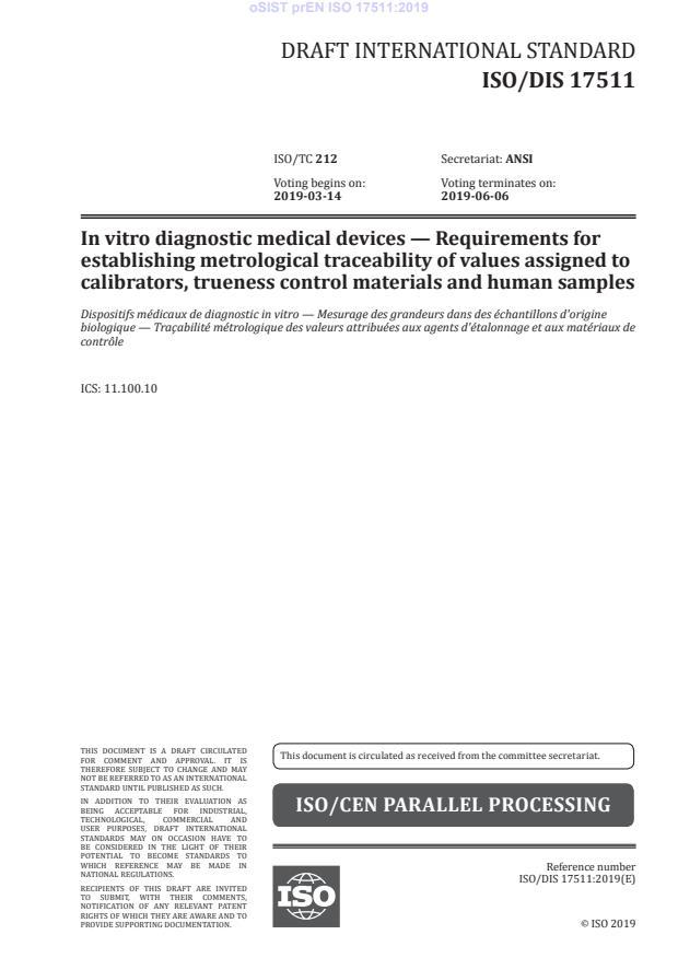 oSIST prEN ISO 17511:2019 - BARVE na PDF-str 39,43,47,50,53,55