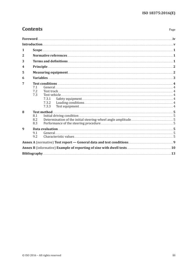 ISO 18375:2016 - Heavy commercial vehicles and buses -- Test method for yaw stability -- Sine with dwell test