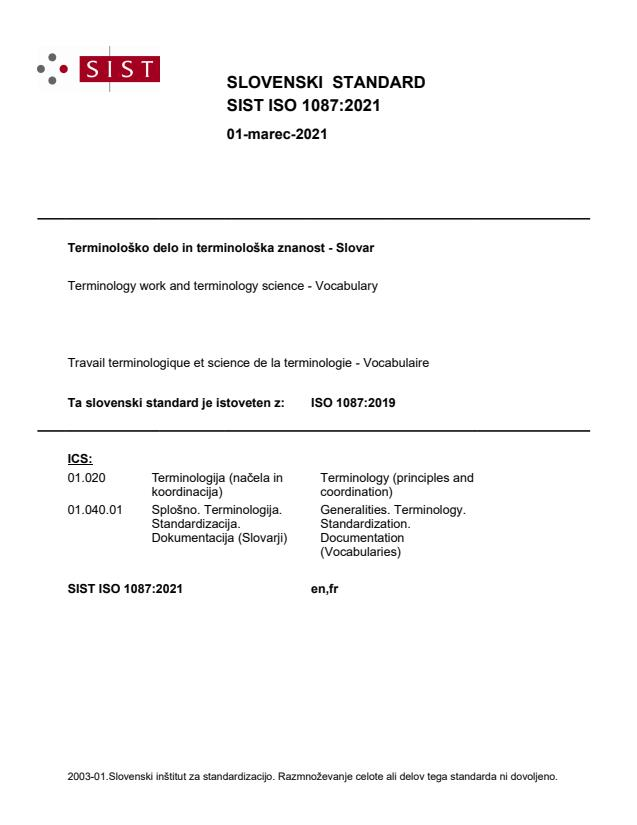 SIST ISO 1087:2021
