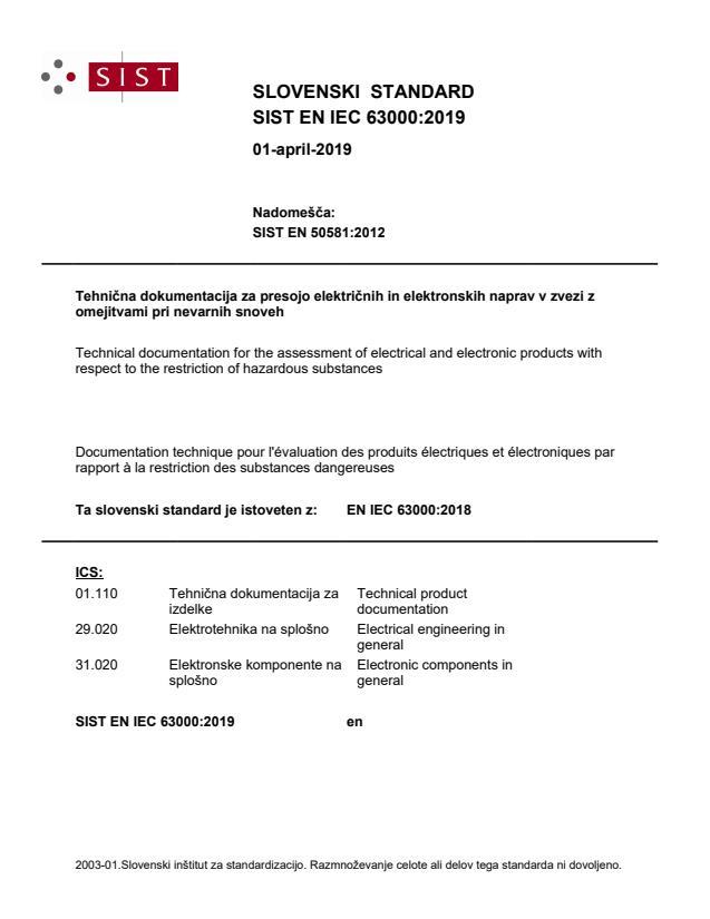 SIST EN IEC 63000:2019