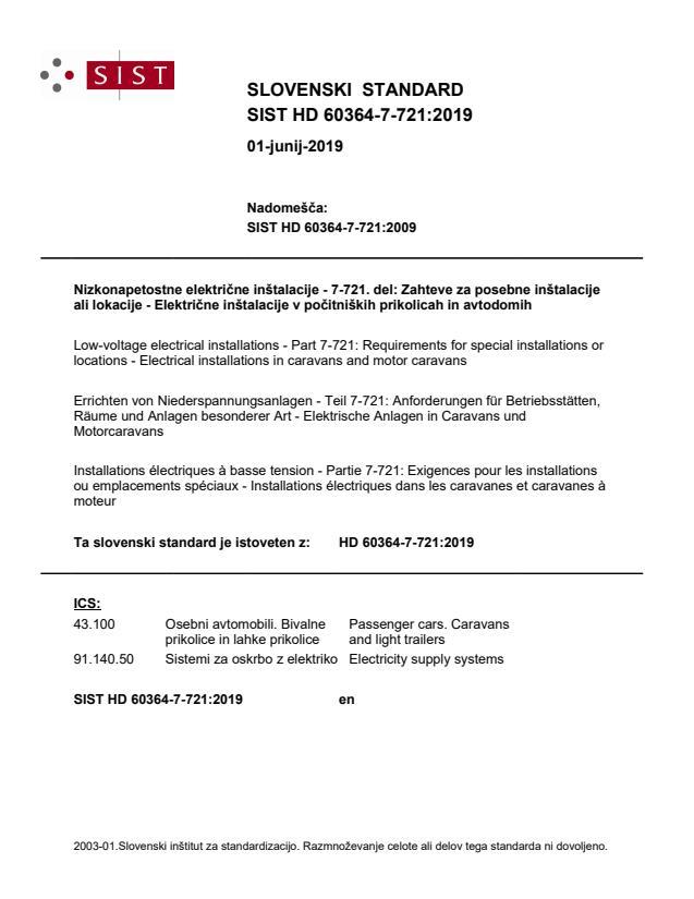SIST HD 60364-7-721:2019
