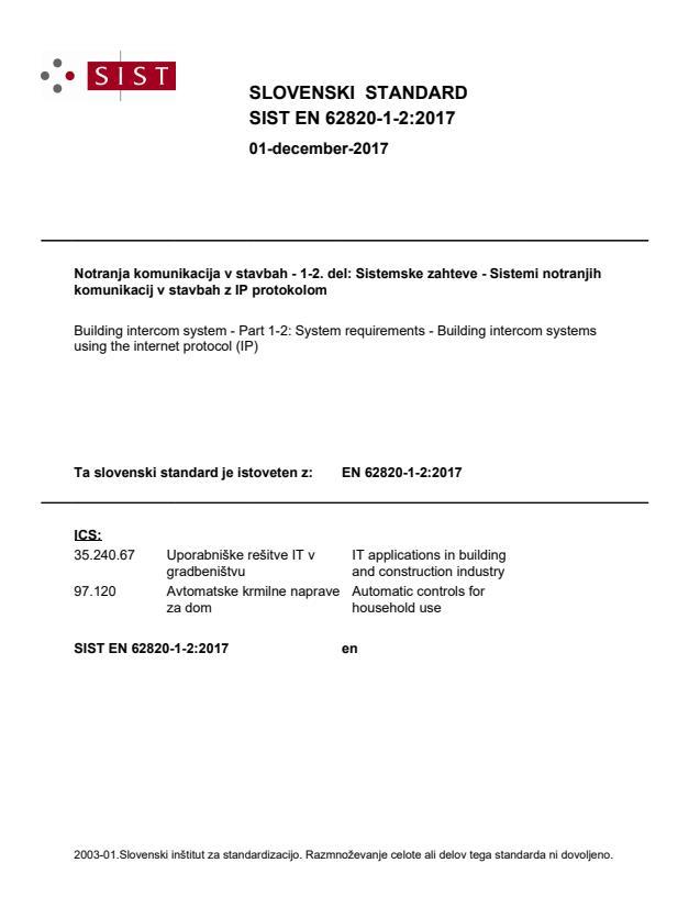 SIST EN 62820-1-2:2017