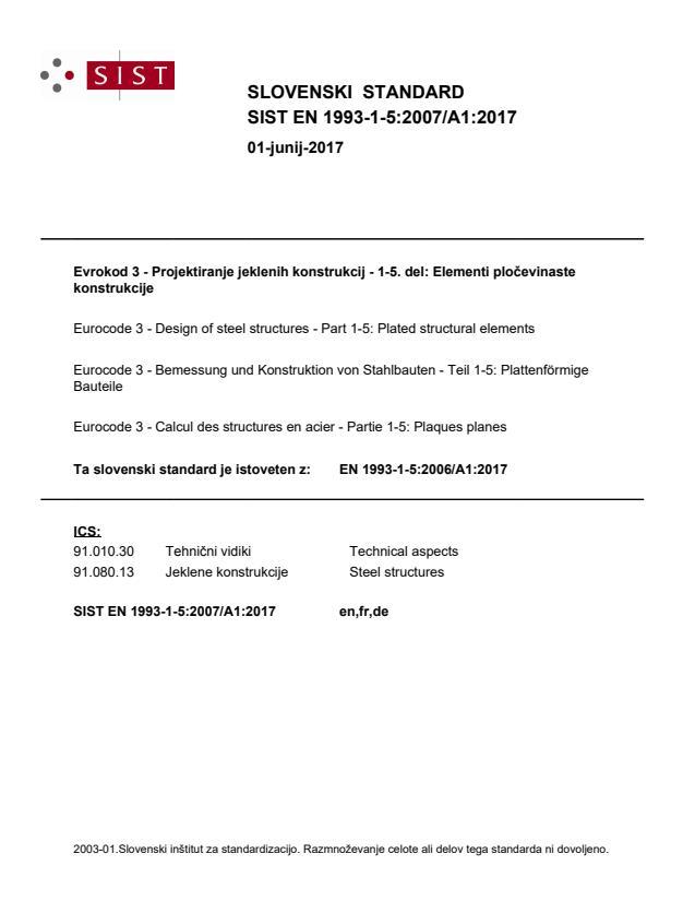 SIST EN 1993-1-5:2007/A1:2017