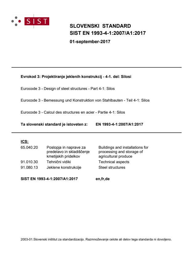 EN 1993-4-1:2007/A1:2017
