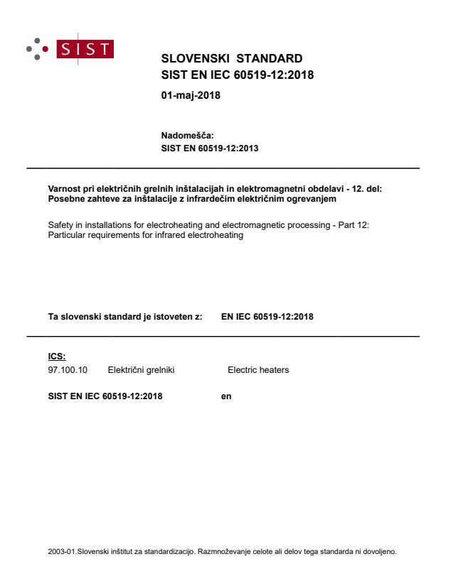SIST EN IEC 60519-12:2018