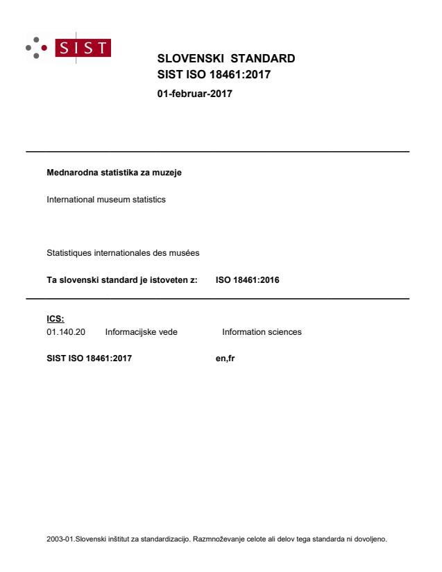 ISO 18461:2017