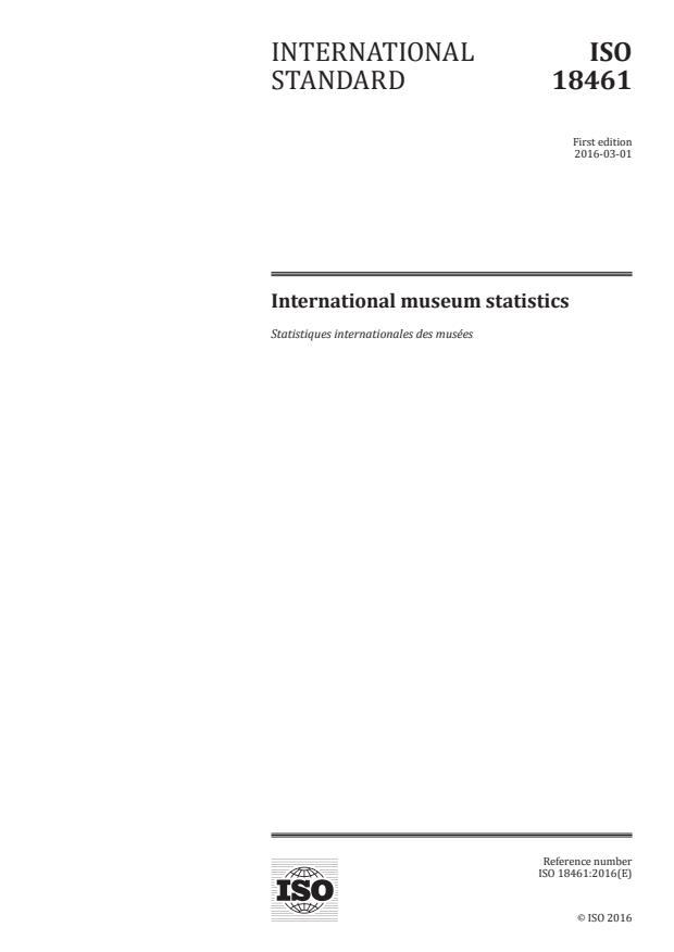 ISO 18461:2016 - International museum statistics